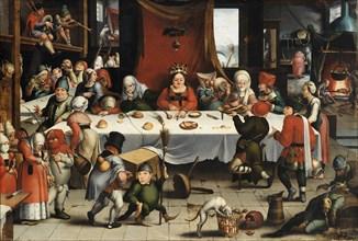 Burlesque Feast, c. 1550. Artist: Mandyn, Jan (1502-1560)