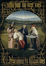 The Cure of Folly (Extraction of the Stone of Madness), Between 1488 and 1516. Artist: Bosch, Hieronymus (c. 1450-1516)