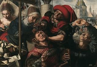 Surgery, 1550-1555. Artist: Hemessen, Jan Sanders, van (c. 1500-c. 1566)