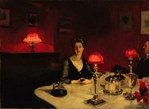 A Dinner Table at Night, 1884. Artist: Sargent, John Singer (1856-1925)