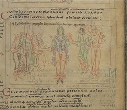 The Psychomachia by Prudentius, 11th century. Artist: Anonymous master