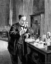 French chemist and microbiologist Louis Pasteur (1822?1895). Artist: Anonymous