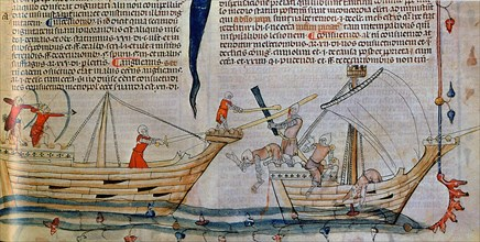 The naval Battle, ca 1340. Artist: Anonymous