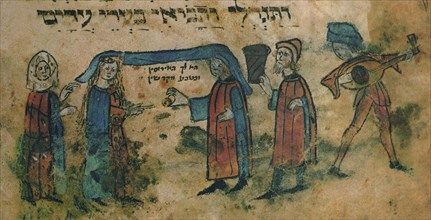 Marriage. Haggadah, Mid of the 15th cen.. Artist: Anonymous