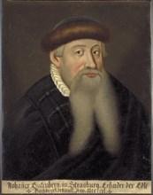 Portrait of Johannes Gutenberg, Early 17th cen.. Artist: Anonymous
