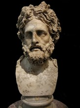 Asclepius, god of medicine and healing. (Roman copy of Greek statue by Phyromachos), 2th century BC. Artist: Art of Ancient Rome, Classical sculpture
