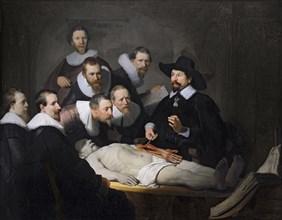 The Anatomy Lesson of Dr. Nicolaes Tulp, 1632. Artist: Rembrandt van Rhijn (1606-1669)