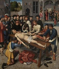 The Flaying of the Corrupt Judge Sisamnes (right panel), 1498. Artist: David, Gerard (ca. 1460-1523)