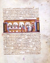 School at the Time of Emperor Constantine VII (Miniature from the Madrid Skylitzes), 11th-12th centu Artist: Anonymous