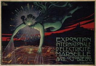 International Exposition of Electricity, Marseille, 1908. Artist: Dellepiane, David (1866-1932)