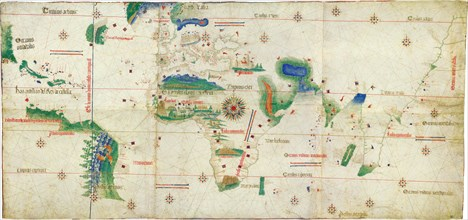 The Cantino planisphere, 1502. Artist: Anonymous master
