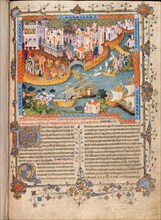 Marco Polo?s departure from Venice in 1271 (From Marco Polo?s Travels), ca 1400. Artist: Anonymous