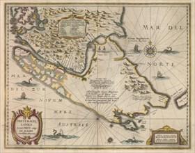 Freti Magellanici ac novi freti vulgo Le Maire exactissima delineatio, c.1630. Artist: Hondius, Jodocus (1563-1612)