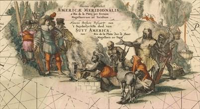 Tractus australior Americæ Meridionalis, a Rio de la Plata per Fretum Magellanicum ad Toraltum (deta Artist: Wit, Frederik de (1630-1706)