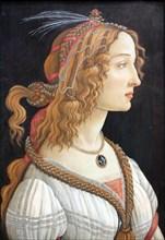 Idealized Portrait of a Lady (Portrait of Simonetta Vespucci), c. 1480