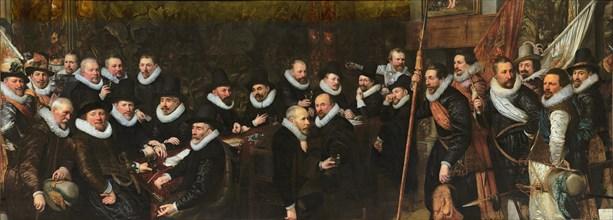 Reception of the civic guard at the Saint Sebastian range by the municipality of The Hague, 1618. Artist: Ravesteyn, Jan Anthonisz, van (1572-1657)