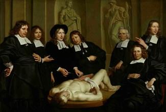 The Anatomy Lesson of Dr. Frederik Ruysch, 1670. Artist: Backer, Adriaen (ca 1635-1684)