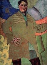 Self-portrait. Artist: Lentulov, Aristarkh Vasilyevich (1882-1943)