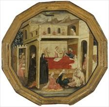 The Montauri birth tray. Artist: Bartolomeo di Fruosino (1366/69-1441)