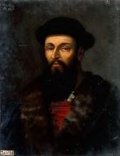 Portrait of Ferdinand Magellan (1470-1521). Artist: Larivière, Charles-Philippe (1798-1876)