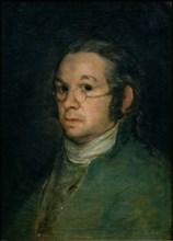 Self-Portrait with Glasses. Artist: Goya, Francisco, de (1746-1828)