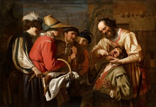 The Tooth Puller. Artist: Honthorst, Gerrit, van (1590-1656)