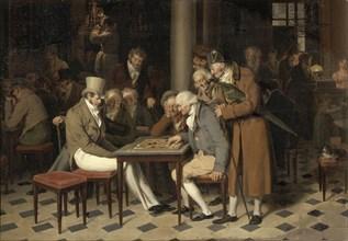 Interior of a café (La partie de dames au café Lamblin au Palais-Royal). Artist: Boilly, Louis-Léopold (1761-1845)