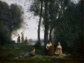 Le Concert Champêtre (Woodland Music-makers). Artist: Corot, Jean-Baptiste Camille (1796-1875)