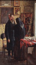 At the dentist. Artist: Meshkov, Vasili Nikitich (1868-1946)