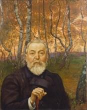 Self-Portrait in a Birch Grove. Artist: Thoma, Hans (1839-1924)