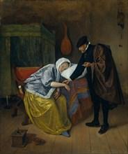 Sick Woman. Artist: Steen, Jan Havicksz (1626-1679)