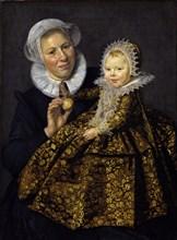 Catharina Hooft with her Nurse. Artist: Hals, Frans I (1581-1666)