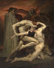 Dante and Virgil in Hell. Artist: Bouguereau, William-Adolphe (1825-1905)
