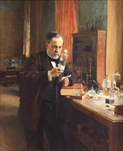 Louis Pasteur. Artist: Edelfelt, Albert Gustaf Aristides (1854-1905)