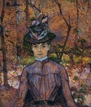 Portrait of Suzanne Valadon (1865-1938). Artist: Toulouse-Lautrec, Henri, de (1864-1901)
