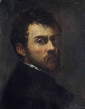Self-portrait as a young man. Artist: Tintoretto, Jacopo (1518-1594)