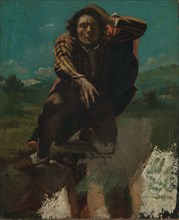 Self-Portrait (The Man Made Mad by Fear). Artist: Courbet, Gustave (1819-1877)