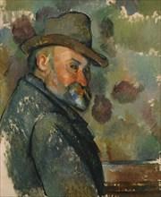 Self-Portrait in a Hat. Artist: Cézanne, Paul (1839-1906)