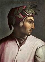 Portrait of Dante Alighieri (Giovio Series), 1566-1568. Artist: Dell'Altissimo, Cristofano (1525-1605)