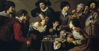 The quacksalver, 1620-1625. Artist: Rombouts, Theodor (1597-1637)