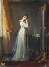 Woman trying on Earrings (Constance Mayer), ca 1806. Artist: Prud'hon, Pierre-Paul (1758-1823)