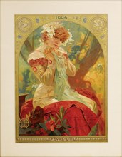 Poster for Lefèvre-Utile. Sarah Bernhardt in the role of Melissinde