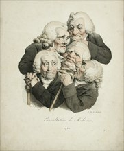 Consultation of Doctors, 1823. Artist: Boilly, Louis-Léopold (1761-1845)