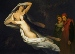 Paolo and Francesca, 1854. Artist: Scheffer, Ary (1795-1858)