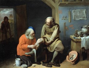 The Village Surgeon. Artist: Ryckaert (Rijckaert), David (1612-1661)