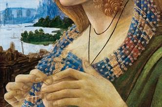 Allegorical Portrait of a Woman (Simonetta Vespucci). Detail, 1480-1490