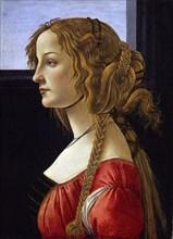 Profile Portrait of a Young Woman (Simonetta Vespucci), ca 1476