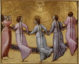 Five dancing angels, ca 1436. Artist: Giovanni di Paolo (ca 1403-1482)