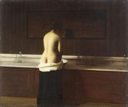 Young woman at her toilet, 1898. Artist: Lomont, Eugène (1864-1938)