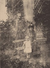 Berthe Morisot, her husband Eugène Manet and their daughter, Julie, ca 1881